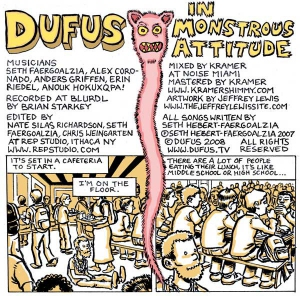 "Dufus ""In Monstrous Attitude"" CD front cover"