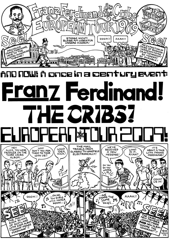Cribs Tour poster comic book