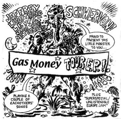 """JEFFREY LEWIS BAND & SCHWERVON """"GAS MONEY"""" Split E.P."""